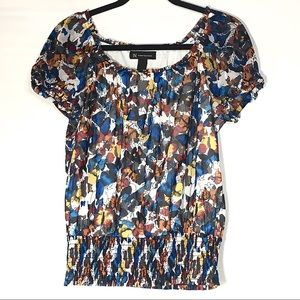 International Concepts Butterfly Puff Sleeve Top
